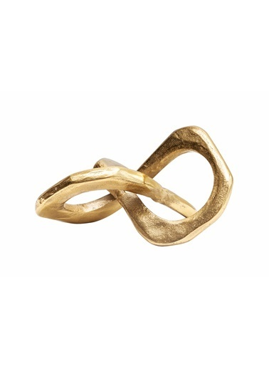 Warm Design Dekoratif Metal Obje Altın
